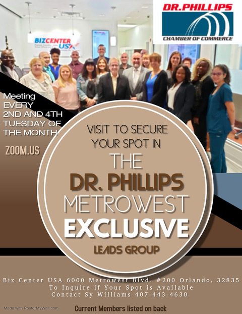 Metrowest Leads Group of Dr. Phillips Chamber of Commerce